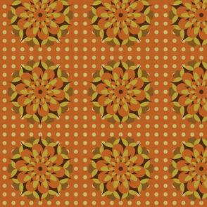 Retro browns rosettes
