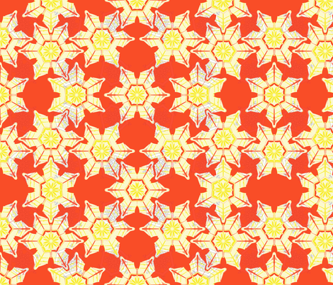 Red Snow fabric by maeula on Spoonflower - custom fabric