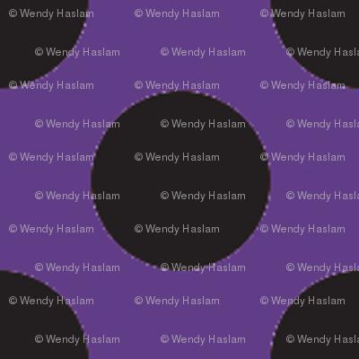 Halloween Purple w/ black dots