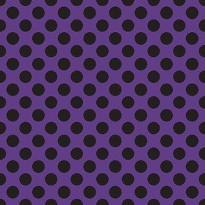Halloween Purple w/ black dots
