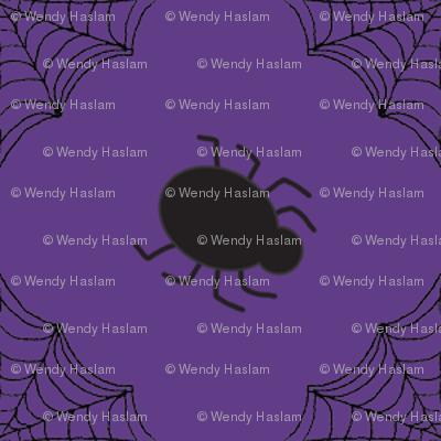 Halloween Spider Purple