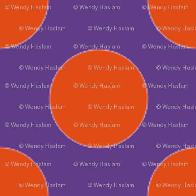 Halloween Purple w/ orange dots