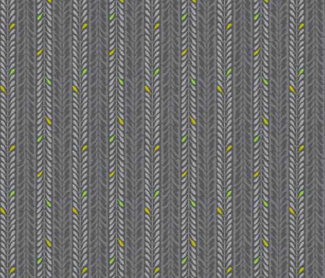 katagami 1 - utsubusi-iro ash gray fabric by monmeehan on Spoonflower - custom fabric