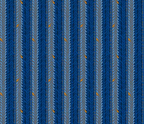 katagami 1 - aisabi-iro indigo fabric by monmeehan on Spoonflower - custom fabric