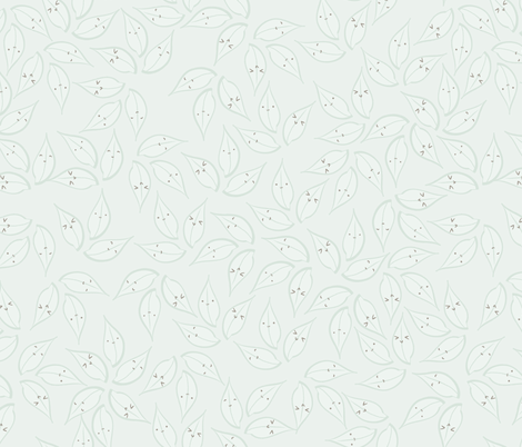 Happy Spring Leaves fabric by majobv on Spoonflower - custom fabric