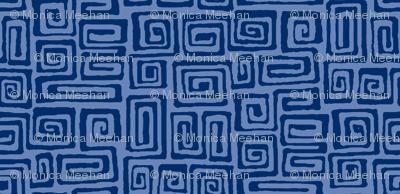 square spiral - indigo