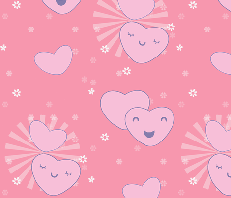 Happy Hearts fabric by oranshpeel on Spoonflower - custom fabric