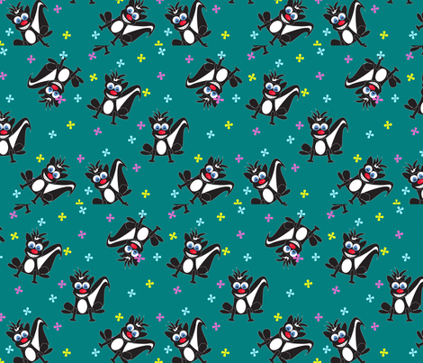 Skunk Funk fabric by everybody`s_starling on Spoonflower - custom fabric