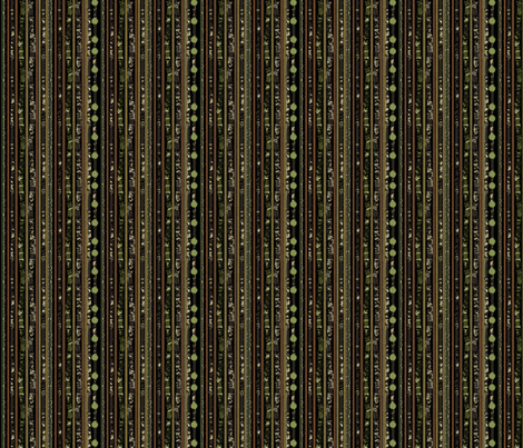 Hunters Stripe Black fabric by karendel on Spoonflower - custom fabric