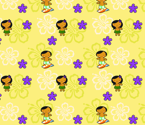 Kawaii Hawaii fabric by jenimp on Spoonflower - custom fabric