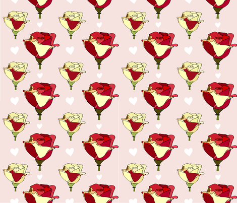 rose_girl fabric by peppermintpatty on Spoonflower - custom fabric
