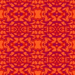 Jungle Print in Orange and Purple