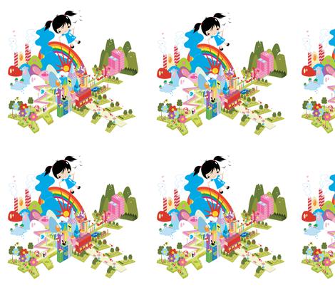 kawaii_3 fabric by longarms on Spoonflower - custom fabric