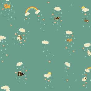 RainingCats_DogsFatQuarter