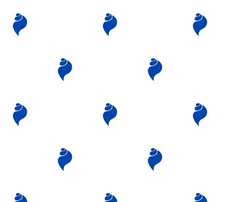 Little Blue Shells fabric by havemorecake on Spoonflower - custom fabric
