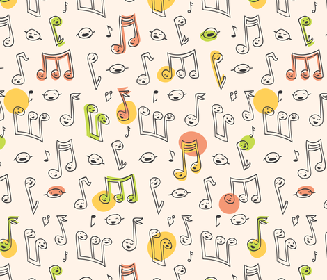DoodleSong fabric by auki on Spoonflower - custom fabric