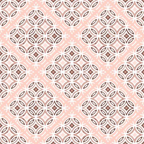 Lattice in Blush fabric by joanmclemore on Spoonflower - custom fabric