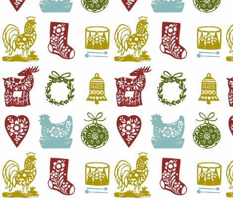 Christmas cutouts 2 fabric by nsta on Spoonflower - custom fabric