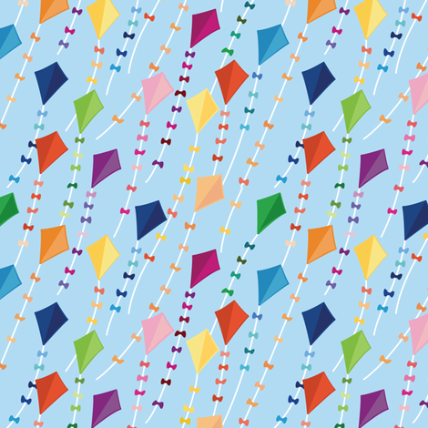 Flying Kites fabric by wildnotions on Spoonflower - custom fabric