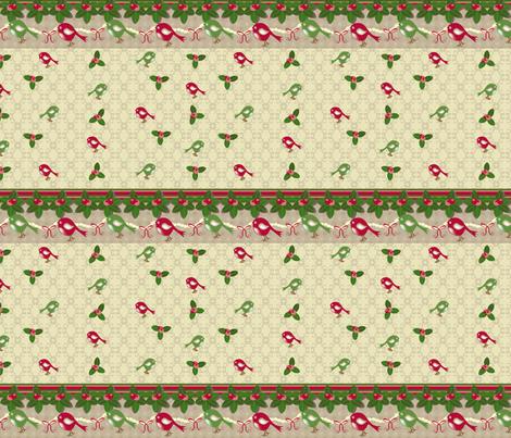 Holiday Birds 03 fabric by deesignor on Spoonflower - custom fabric
