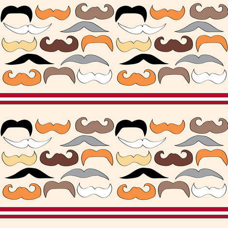 Mustache Parade fabric by sonstnochwas on Spoonflower - custom fabric