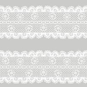 Floral Lace Stripe
