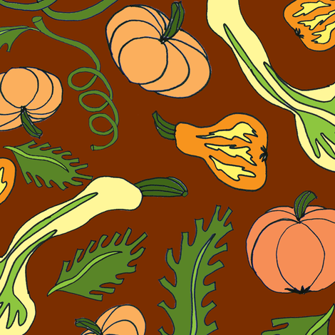 hordes_of_gourds fabric by chewytulip on Spoonflower - custom fabric