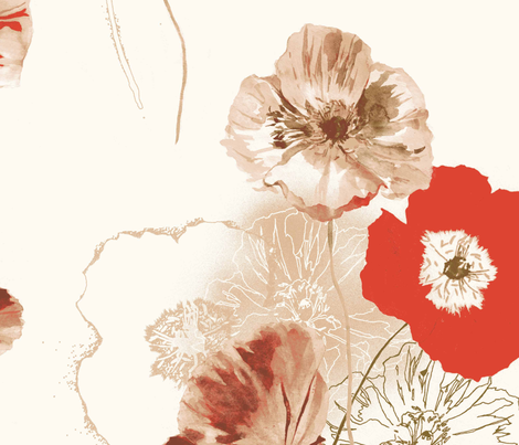Poppies fabric by laurajm28 on Spoonflower - custom fabric