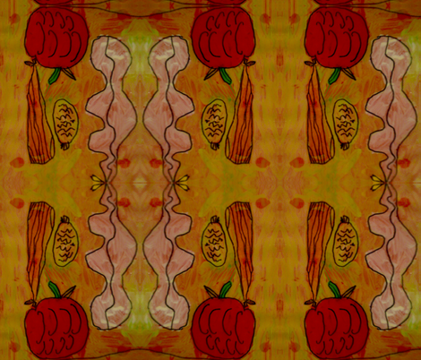 Falling Gourds fabric by jennyjump on Spoonflower - custom fabric