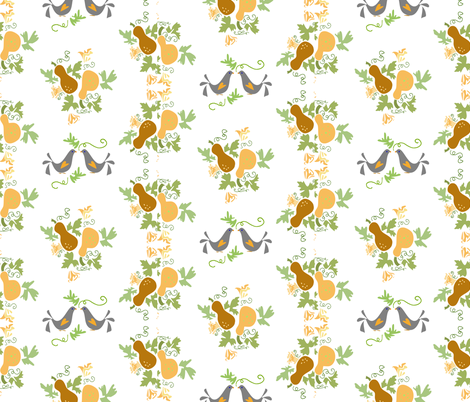 gourddoves fabric by ikki_pokki on Spoonflower - custom fabric