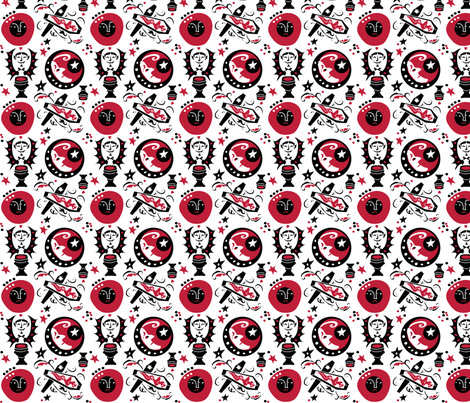 VAMPIRE fabric by cvale on Spoonflower - custom fabric