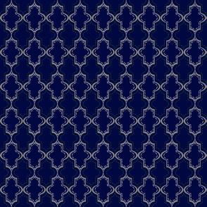 Blue Tangier Lattice- Sm
