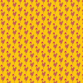 Flamingo_-_for_spponflower_-_yellow_background