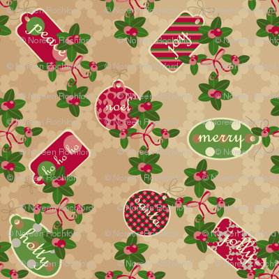 holly & gift tags