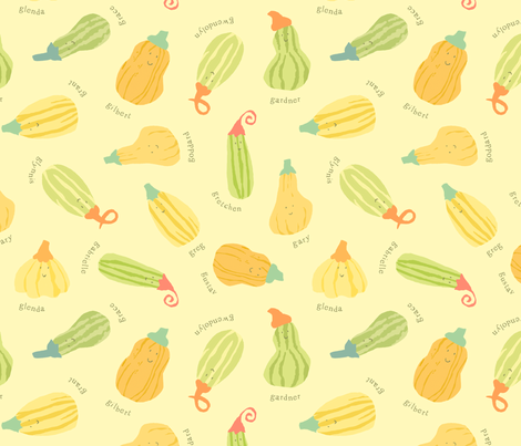 Gourd Family Gathering fabric by cathyheckstudio on Spoonflower - custom fabric