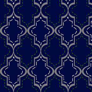 Lg Blue Tangier Lattice