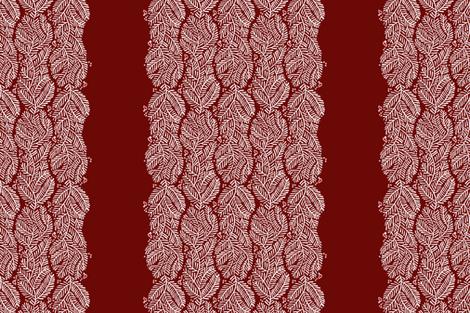 arborvitae - border red fabric by monmeehan on Spoonflower - custom fabric