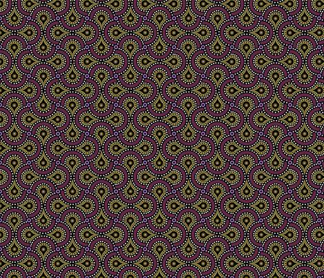 Amoeba Paisley fabric by pixeldust on Spoonflower - custom fabric