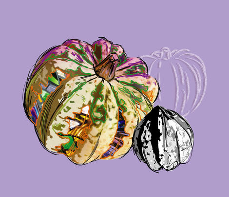gourd_art fabric by peppermintpatty on Spoonflower - custom fabric