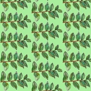 mini branch in green