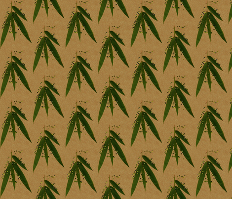 Abundant Beauty bamboo, peridot and silk fabric by paragonstudios on Spoonflower - custom fabric