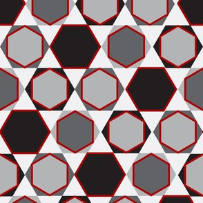 Hexagons (Small Red)