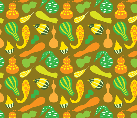 Glourious Gourds fabric by isabelc on Spoonflower - custom fabric