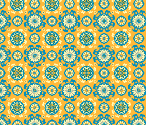 orangeatang fabric by royalforest on Spoonflower - custom fabric