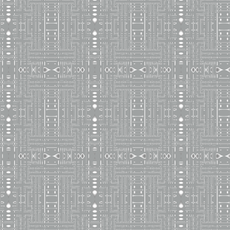Urbane Maze Grey © Gingezel™ 2011 fabric by gingezel on Spoonflower - custom fabric