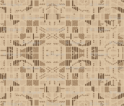 Very Geometric Beige © Gingezel™ 2011