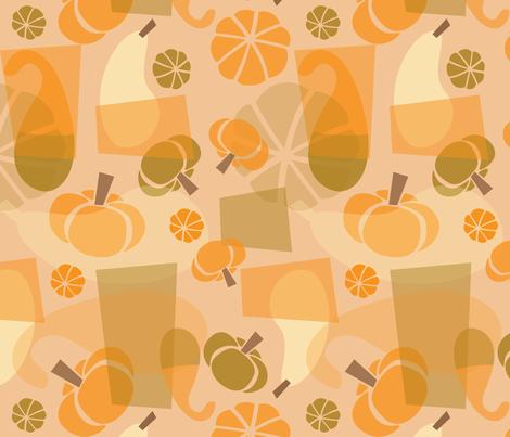 Funky Mod Gourds fabric by acbeilke on Spoonflower - custom fabric