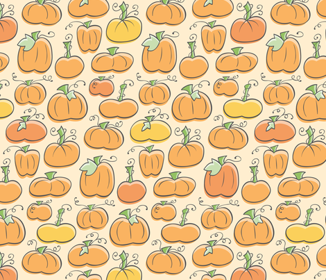 Pumpkin Patch fabric by auki on Spoonflower - custom fabric