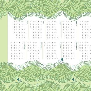 arborvitae green calendar towel