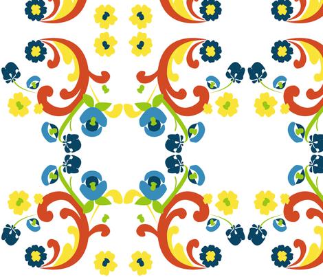MODERN SCANDINAVIAN fabric by heatherrothstyle on Spoonflower - custom fabric